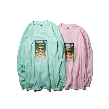 RULER / SQUAD PIGMENT-DYE LONG TEE (2colors)