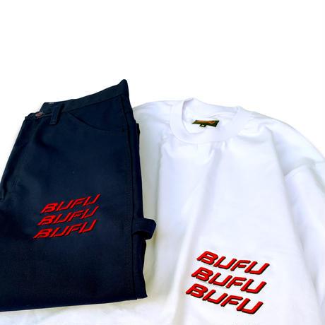 DUMMY YUMMY / BUFU Three Rows Logo Duck Painter Pants