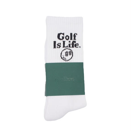 Malbon Golf 'Golf Is Life' Crew Sock