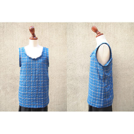 【SALE】50%OFF 1310-01-107 Windowpane Check Tank