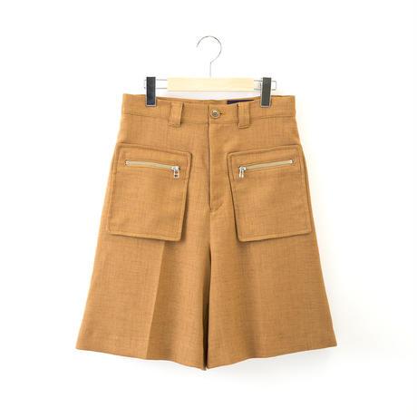 【SALE】 1601-04-105 Wedge Slab Half Pants