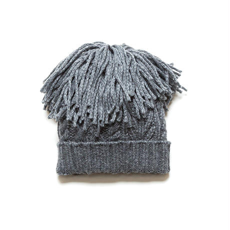 PA8AW-AC09 MIX YARN FRINGE KNIT CAP