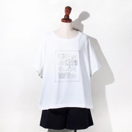 【SALE】1410-06-104 CAT IS THE BEST T-Shirt