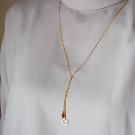orange topaz necklace