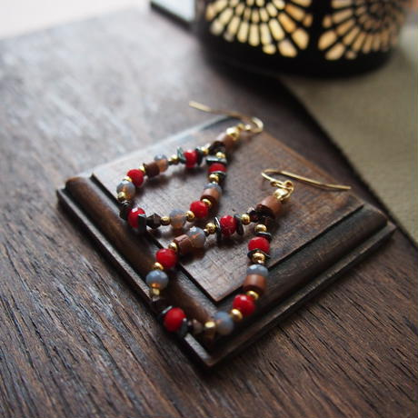 red grass beads