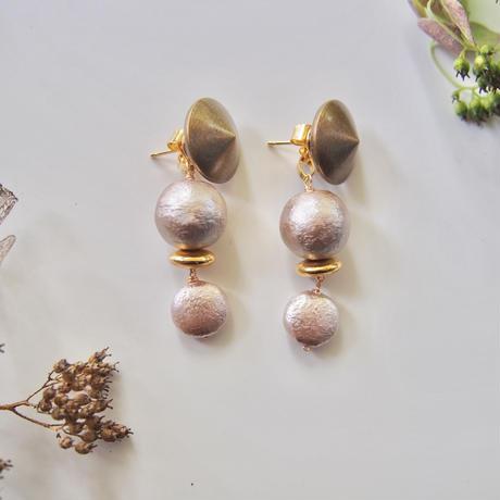 studs & gray cottonpeal pierce