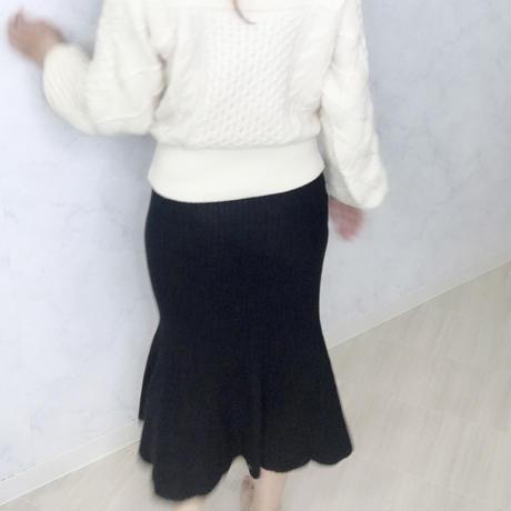 リブマーメイドスカート