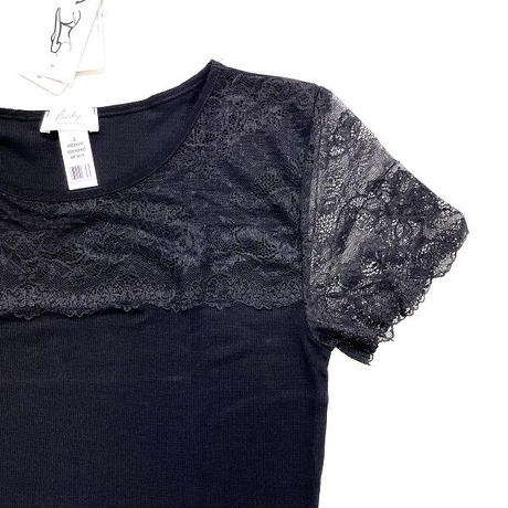 Fraly イタリア製 レース半袖トップス/DF1619
