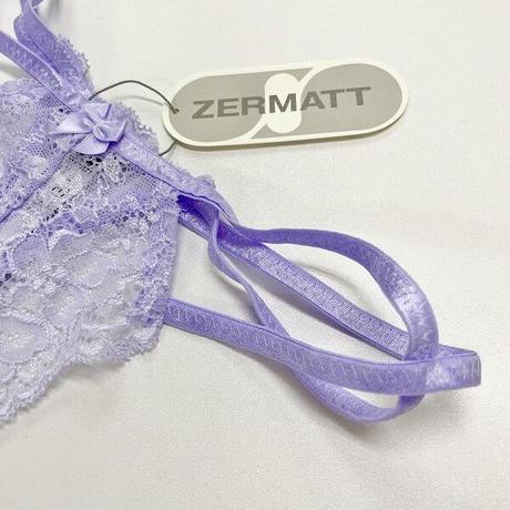 ツェルマット サイドひも ストレッチレースTバック/ZE1077