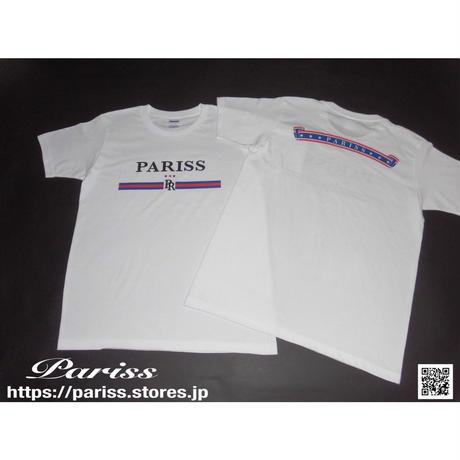【人気】トリコロールTシャツ【ホワイト】