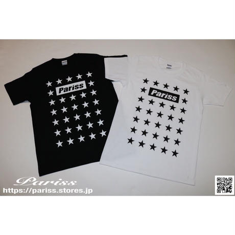 Super Star BoxロゴTシャツ【ブラック・ホワイト】