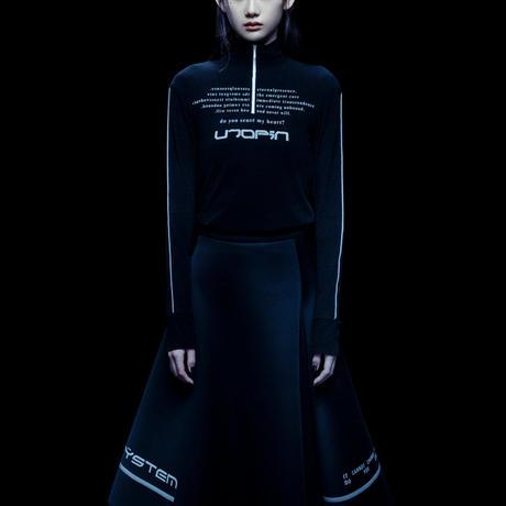 "【Virtual Self×Chloma】 ""UTOPIA"" high-neck zip tee"