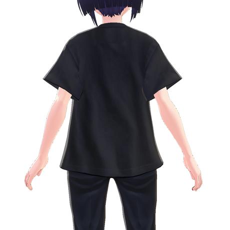 【VRoid用テクスチャ】綿紬ことこ カレッジTシャツ