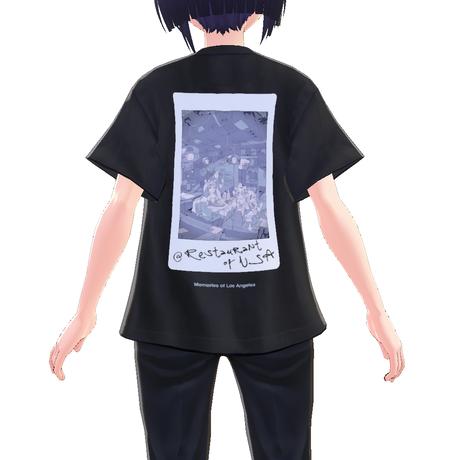 【VRoid用テクスチャ】Restaurant of USA Tシャツ