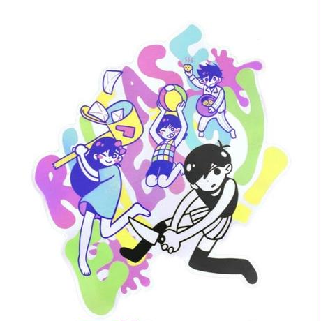 【OMORI】RELEASE ENERGY! Holographic Sticker【OMOCAT】