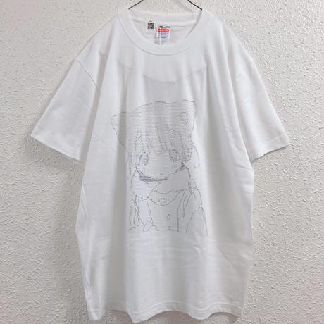 【ゆーきん】つめたいねこAA Tシャツ