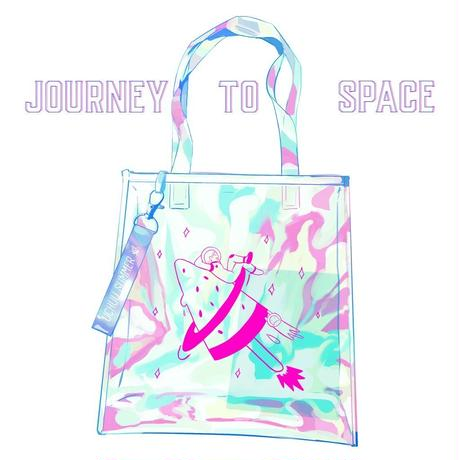 【宇宙サマー】JOURNEY TO SPACE CLEAR HOLOGRAPHIC TOTEBAG