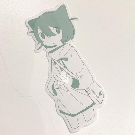 【ゆーきん】PARKのねこ ステッカー(PARK限定)