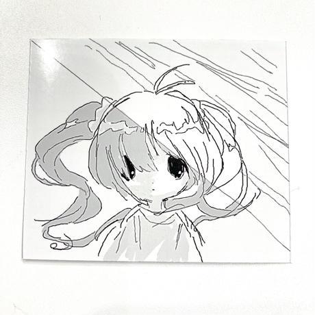 【ゆーきん】雨の日花王 ステッカー