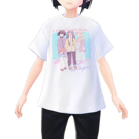 【VRoid用テクスチャ】OVERWORK Tシャツ