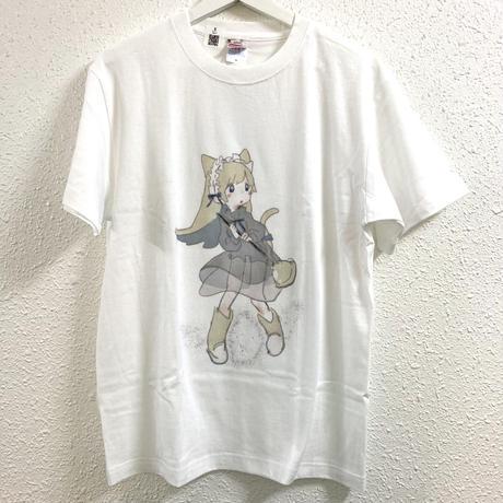 【ゆーきん】おそうじにゃんこ Tシャツ