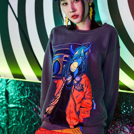 【OMOCAT】RADIO DEMON Sweater