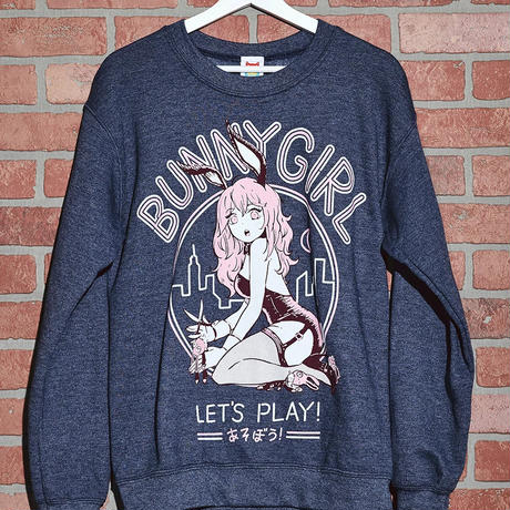 【OMOCAT】BUNNYGIRL HEATHER Sweater