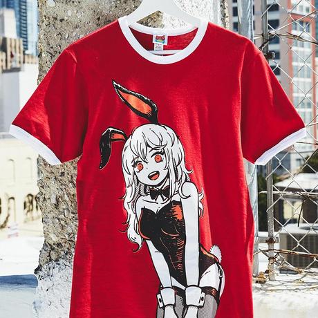 【OMOCAT】BUNNYGIRL Red Ringer T-Shirt