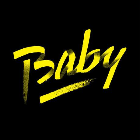 80KIDZ - Baby カバーアート Tee (black/yellow)