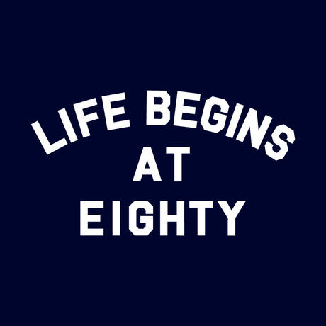 80KIDZ - Life Begins at Eighty トートバッグ (Navy)