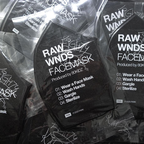 """80KIDZ - RAW WNDS MIXTAPE """"FACEMASK"""" 3枚セット+ラベルステッカー"""