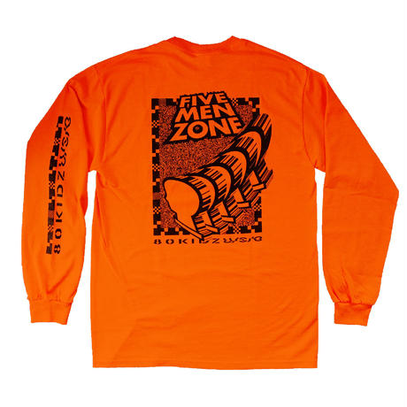 "80KIDZ x U/S/O x WATANABE STUDIO - Long Sleeve Tee ""Five Men Zone"""