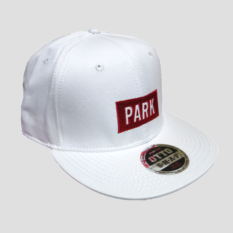PARK - LOGO Snapback Cap (white/red)