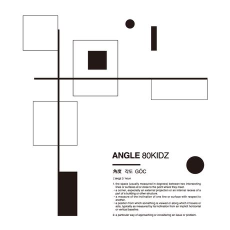 80KIDZ - ANGLE 上面図 Tee