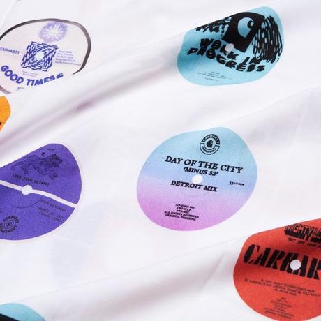 "carhartt WIP""S/S RECORD SHIRT - Record Print, White"""