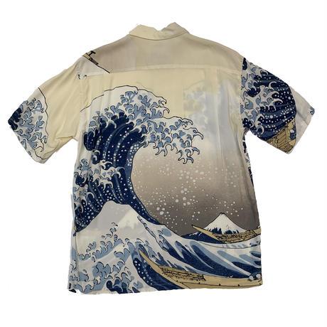 """SUN SURF """"北斎 HAWAIIAN SHIRT""""  神奈川沖浪裏"""