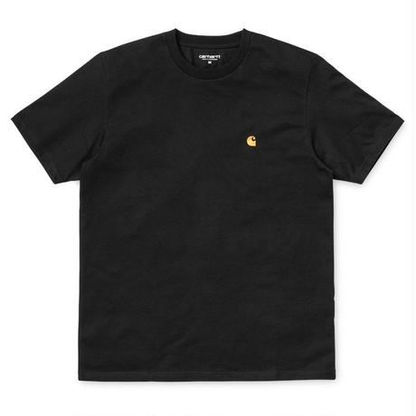 "Carhartt WIP ""S/S CHASE T-SHIRT"" BLACK/GOLD"