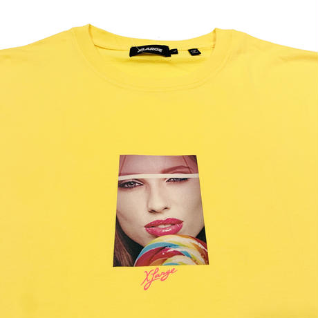 """XLARGE """"S/S TEE LOLLY"""" YELLOW"""