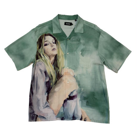"""XLARGE """"OIL PAINTING GIRL"""" OLIVE"""