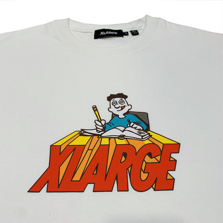 """XLARGE """"S/S TEE BACK TO SCHOOL"""" WHITE"""