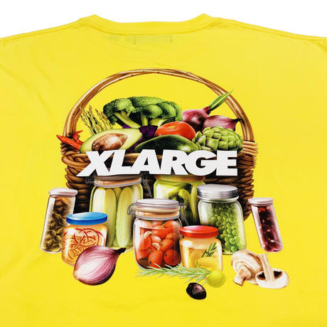 "XLARGE ""S/S TEE ORGANIC"" YELLOW"