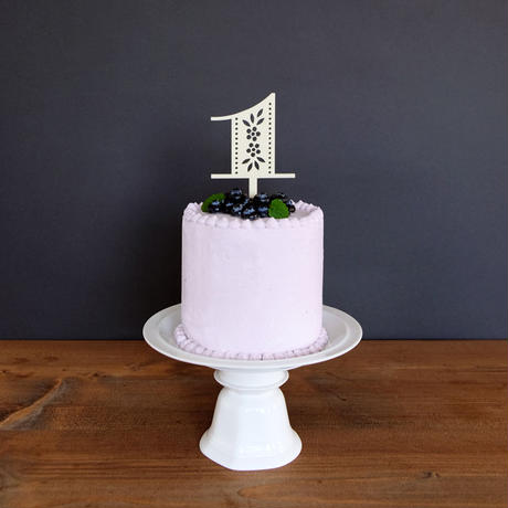 Cake Topper - Floral Number (1,2,3,4,5,6,7,8,9,0)