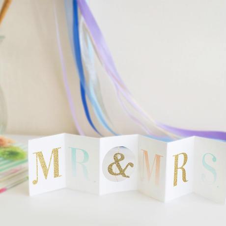 【メール便対応】MeriMeri メッセージカードミニ/Mr&Mrs [MM0401-11-2298]