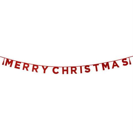 【メール便対応】Talking Tables パーティバナー・ガーランド/Merry Christmas/レッド [TT0101-SAY-MERRY-RED]
