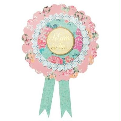 【メール便対応】Talking Tables ベイビー ロゼット/Mum To Be...  [TT0305-TS-BABY-ROSETTE]