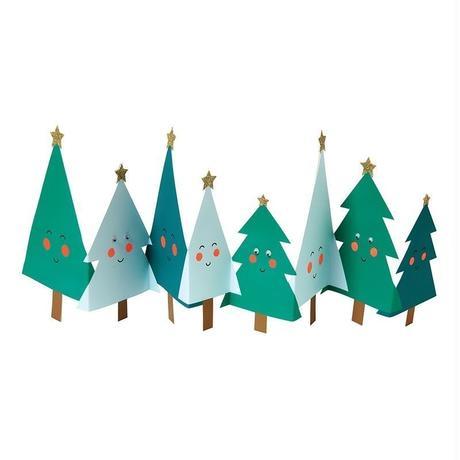 【メール便対応】MeriMeri メッセージカードミニ/HAPPY TREES COCERTINA [MM0401-11-2746]