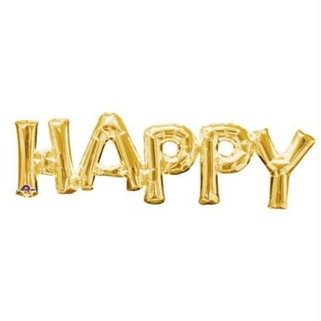 【Anagram】レターフレーズバルーン HAPPY ゴールド [BM0101-33755]