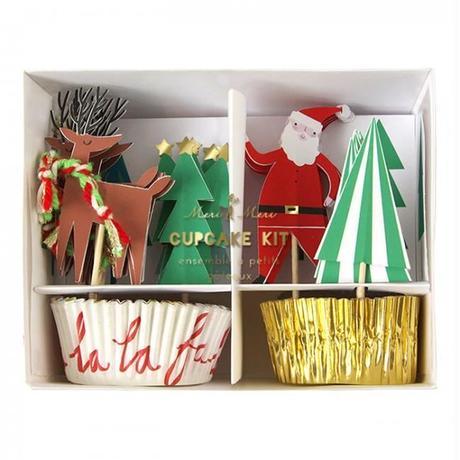 【MeriMeri】カップケーキキット/X'masクリスマス/サンタ・トナカイ・ツリー [MM0206-45-1857]