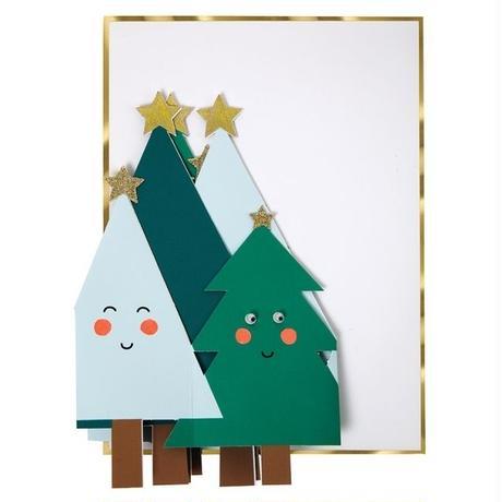 【メール便対応】MeriMeri グリーティングカード/HAPPY TREES COCERTINA  [MM0401-42-0056]