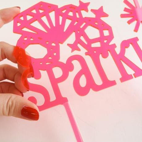 【Talking Tables】ケーキトッパー/SPARKLE[TT0205-TOPPER-SPARKLE]